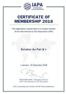 Certificate IAPA Membership 2018