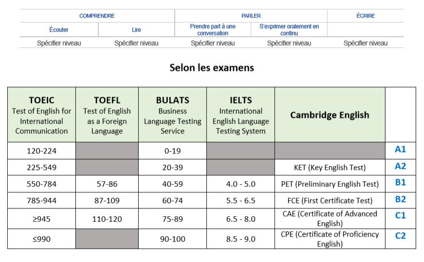 evaluez et testez votre niveau de langue avant les examens